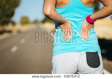 Female Runner Back Pain