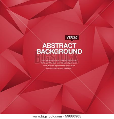 Polygonal Background Red