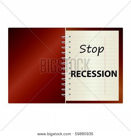 Stop Recession On Notebook