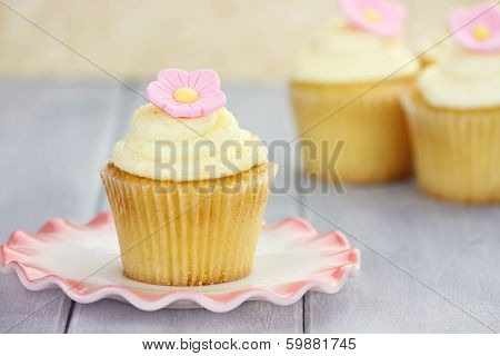 Cupcake On Saucer