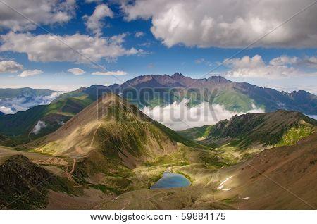 Mountain landscape  in Caucasian mountains.