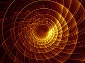 Fractal Burst series. Backdrop of fractal radial burst pattern on the subject of science technology and design poster