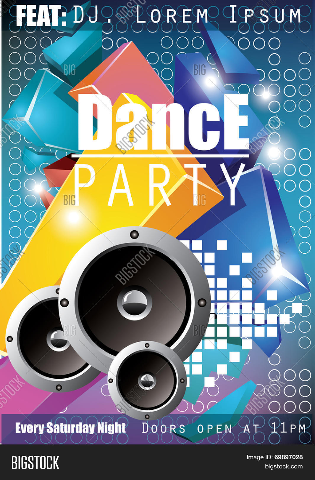 Dance Party Poster Vector & Photo (Free Trial) | Bigstock