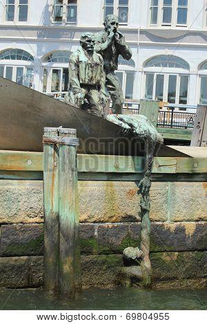 American Merchant Marines Memorial in Manhattan