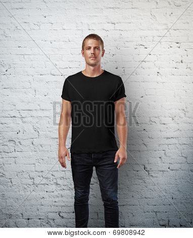 Man wearing t-shirt