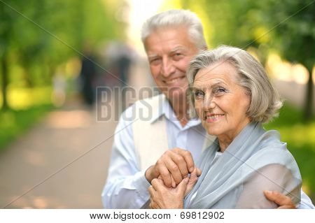 Smiling mature couple