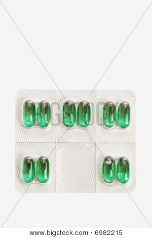 Package Of Capsule Pills. Isolated