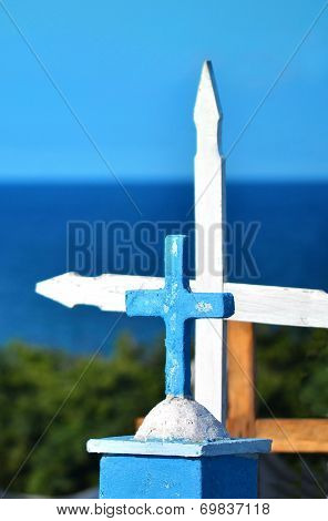 Orginal cementary on tropical island
