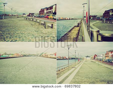 Retro Look Dublin Docks