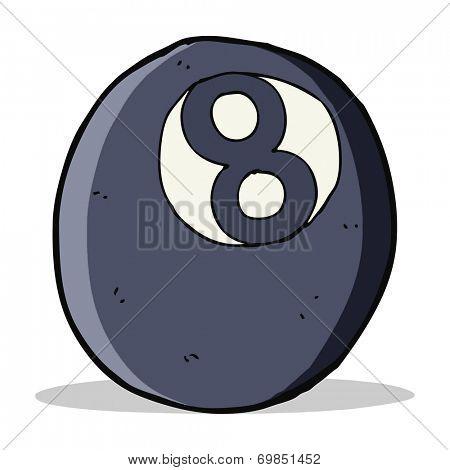 cartoon eight ball