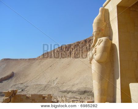 detail of the Hatchepsut Temple in Egypt