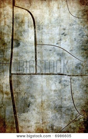 Abstract Cracked Grunge Background