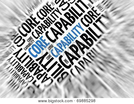 Marketing background - Core Capability - blur and focus