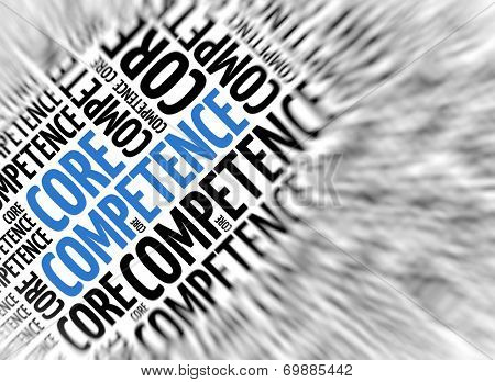 Marketing background - Core Competence - blur and focus