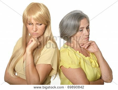 Mother and daughter having problem