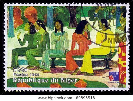 Painting By Paul Gauguin, Ta Matete Aka The Market