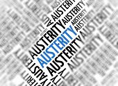 Marketing background - Austerity - blur and focus poster