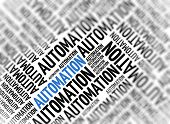 Marketing background - Automation - blur and focus poster