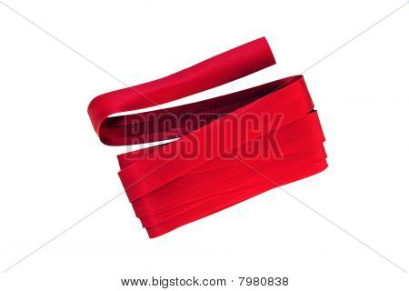 Red Bias Binding