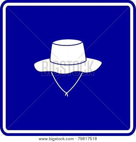 bucket hat sign
