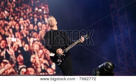 Frontman of american metal group Metallica