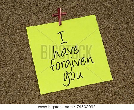 I have forgiven you reminder