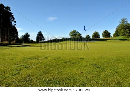 sunshine on a golf green
