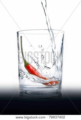 Pepper-brandy. vodka