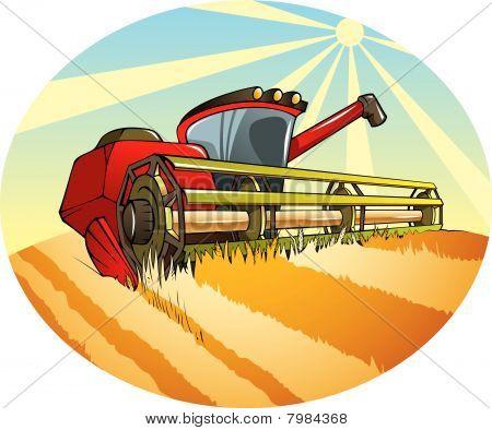 Agriculture harvesting machine