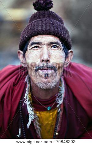 Portrait Of Lively Buddhist Monk, Nepal