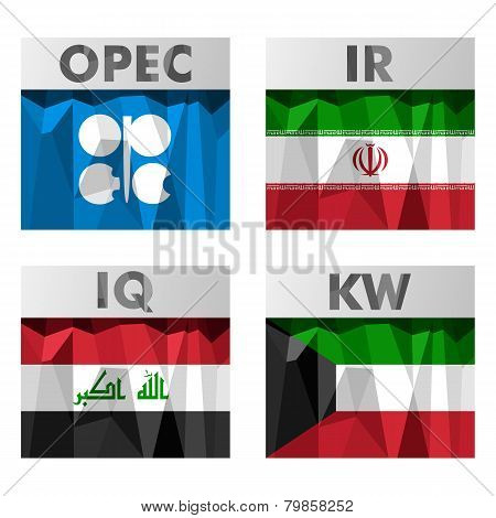 Opec Countries Flags.