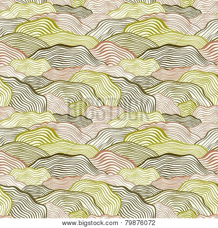 Seamless pattern with wavy scale texture