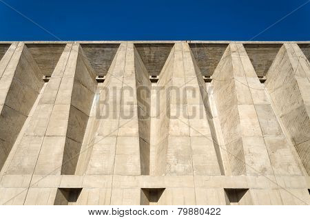 Ahmedabad, India - December 27, 2014: Facade Of Tagore Memorial Hall In Ahmedabad