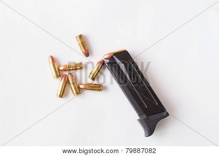 Gun On White Background.
