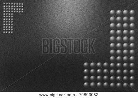Pattern Of Black Metal Background