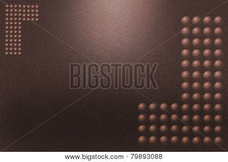Pattern Of Brown Metal Background