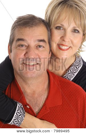 happy couple in their 50's