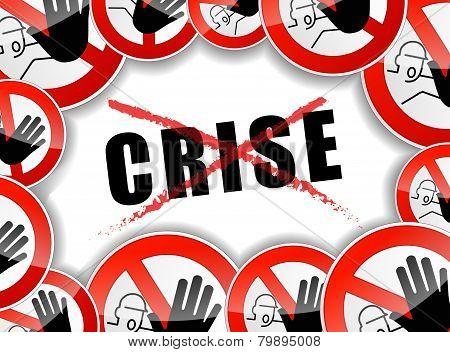 No Crisis Concept Illustration