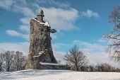 Zizka's monument at Sudomer, south bohemia. Monument of the warrior poster