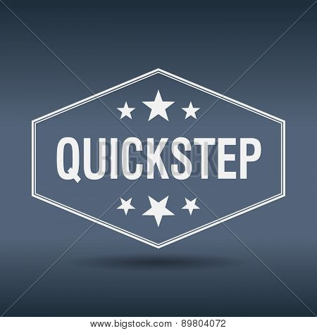 Quickstep Hexagonal White Vintage Retro Style Label