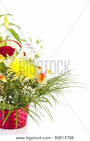 Basket with Flowers for Mothers Day