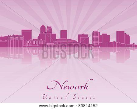 Newark Skyline In Purple Radiant Orchid