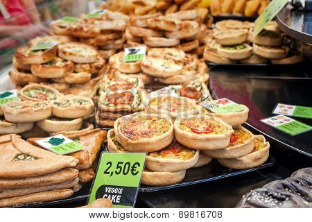 Spanish Tapas - Various Vegetarian Quiches And Tarts
