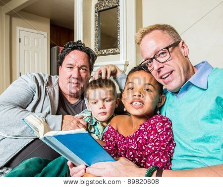 Gay Couple Reads To Children