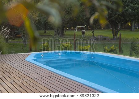Residence With Swimming Pool And Deck