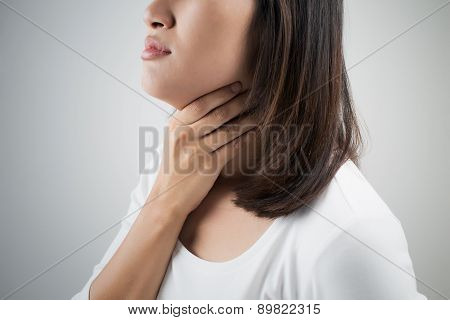 Sore Throat Woman