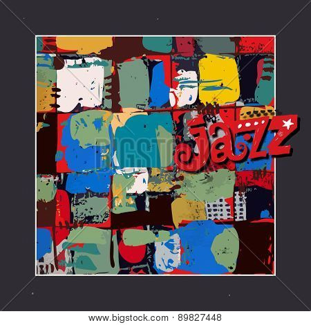 jazz background, abstract poster design