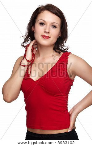 Girl In Red Top