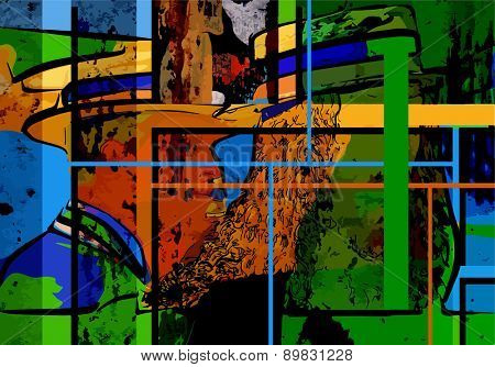 digital painting, abstract poster design