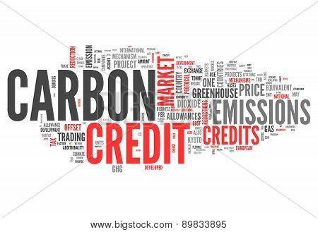Word Cloud Carbon Credit